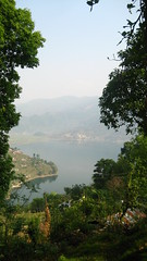 Picture 1094 (DushiX) Tags: trees nepal lake mountains water forest landscape boats scenery jungle paragliding pokhara