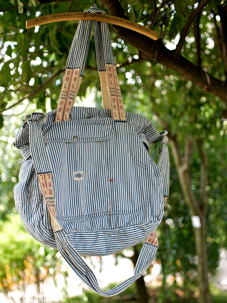 RRL / Hickory Stripe 2Way Bag
