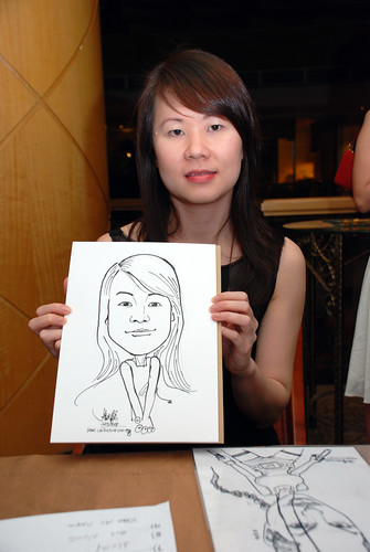 Caricature live sketching Misumi SouthEast Asia D&D 6