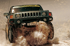Shifting sand in Morocco: HUMMER Adventure 2008