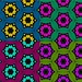 Flowers in Stars in Hex - 4 Color Mosaic 12.2