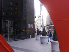 Entrance of IBM New York, where the meeting was held for NYPHP.org