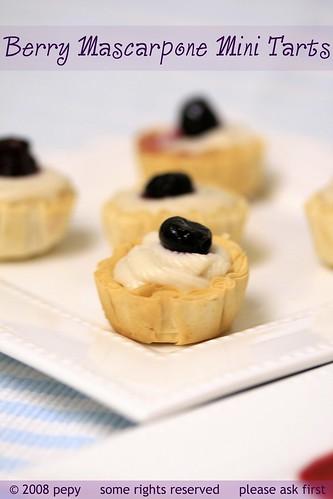 Berry Mascarpone Mini Tarts 2