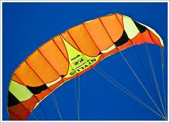 Prism Stylus P.2 Kite (hz536n/George Thomas) Tags: blue summer sky orange kite oklahoma yellow stillwater 2008 cs3 canon30d canonef70200mmf4lusm