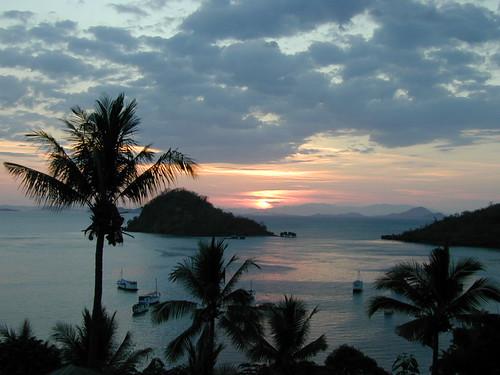 View above Labuan Bajo