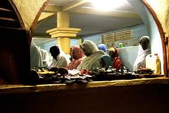 Guinean Women praying during Eid Al Fitr (:: Ethos Photography ::) Tags: africa window guinea lowlight women islam praying hijab mosque celebration sandles religiousholiday eidalfitr kamsar ethosphotography nightofrevelation