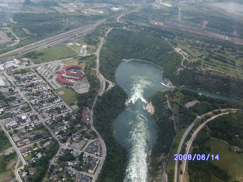 Niagara Whirlpool from helicopter