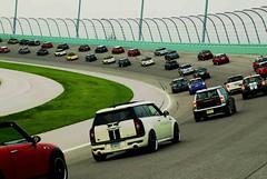 Turn three (randeclip) Tags: auto park city car race turn fence geotagged track florida miami rally mini cooper nascar bmw british homestead states takes motorsports dade mini banked 2008 geo:lat=25453655 geo:lon=8040437