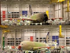 A380 inside factory (psicopat) Tags: france building plane construction missing factory assemblage aviation civil airbus a380 inside toulouse garonne blagnac reactor avion haute chaine reacteur