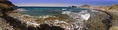 Playa del Peñon Blanco (Jesús VR) Tags: sea panorama españa costa seascape blanco nature canon landscape geotagged 350d mar spain europa europe mediterranean mediterraneo paisaje panoramic andalucia panoramica andalusia almeria almería cabodegata marinas peñon isletadelmoro canonista tokina1224atx indalofoto jesusvr