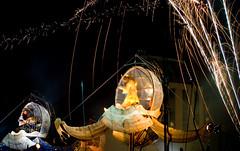 The Pods (@fotochap) Tags: uk longexposure england green slr london modern night circle seasons shot zoom fireworks britain folk performance full bow incendiary bethnal end jumper mile terrafolk gorillapod
