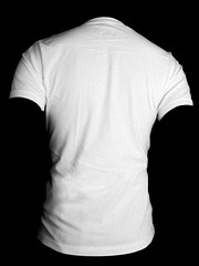 Back- White (ir0cko) Tags: white male back threadless onblack blanktee
