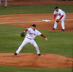 Stingy Starter (BennyPix) Tags: trip vacation urban copyright toronto cold sports rain boston canon geotagged ma eos downtown baseball cloudy stadium massachusetts sox © redsox newengland overcast april bluejays 1912 fenway day4 2008 lester graysky allrightsreserved mapped mlb 30d bosox unauthorizeduseprohibited unauthorizedusestrictlyprohibited allcommercialuseprohibited