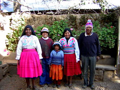 Our family and home on Amantaní