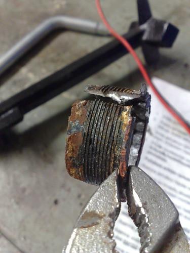 bottom bracket, forced removal
