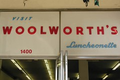 Wish I still could. (Dave van Hulsteyn) Tags: sign lunch store counter antique woolworths bakersfield luncheonette
