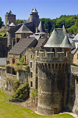 turrets of Fougres (jatherton) Tags: france brittany fougres
