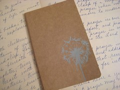 Dandelion Moleskine Cahier (boundto) Tags: moleskine notebook book journal etsy lined cahier boundto bookbindingteam