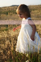 Fields of Gold (Ule (Photography By)) Tags: flowers sunset 2 girl field yellow outside toddler colorado dress 5d ule