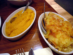 Carrot and Parsnip Puree and Gratin Dauphinois