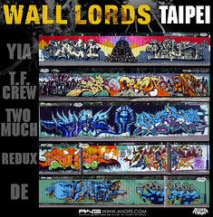 Wall Lords Taipei (PHATE DTP) Tags: graffiti udon taiwan optimist  2008 skunk bounce ano throwup dabs  saph saym  dzus phate1 walllords