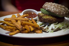 Veggie Burger at Elephant Bar