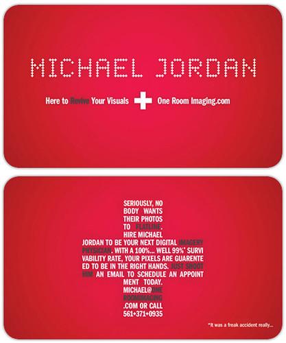 funny business cards. Michael Jordan Business Card