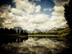 Oxbow (new_sox) Tags: trees reflection clouds snakeriver tetons mountainrange grandtetonnationalpark oxbowbend