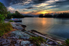 Awake (mgroves) Tags: summer sun canada saint sunrise river boats lawrence earlymorning hdr lightroom saintlawrenceriver