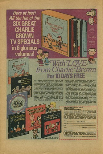 6 Great Charlie Brown TV Specials Book Offer 1971 (by senses working overtime)