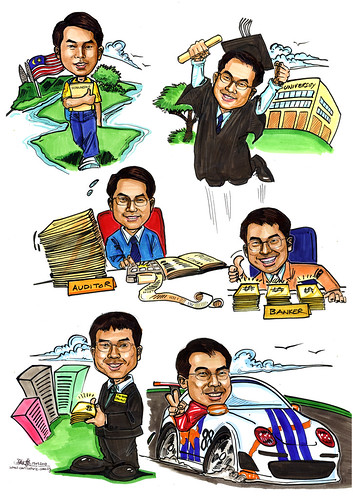 Caricatures for Affinity Equity Partners A4
