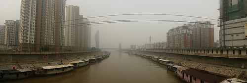 Terrible air pollution (Tributary to the Yellow River in Wuhu City, Anhui Province, China)