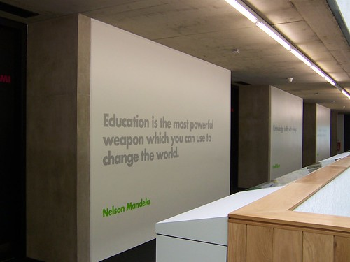 education quotes by famous people. The walls feature great quotes