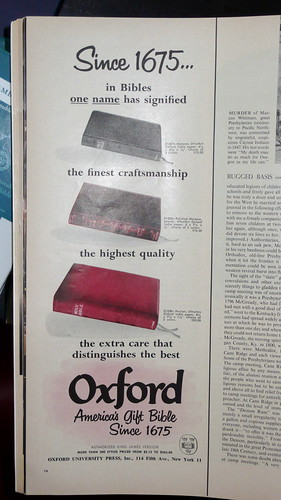 Oxford Bible Advert