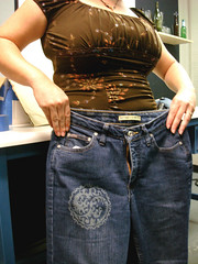Lasercut printer jeans!