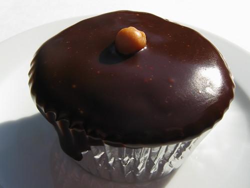 Banana Caramel Chocolate Swirl Cupcake