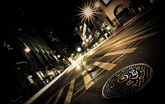manhole (TerryJohnston) Tags: street city longexposure nightphotography trip urban chicago night downtown il photowalk manhole streetscape thewindycity anawesomeshot iheartthenight photographicvampire takingabiteanddrawingsomeblood