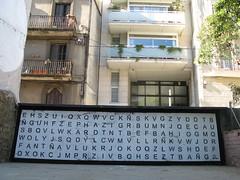 after (nadie en campaña) Tags: barcelona white streetart black graffiti stencil gràcia nadie sopadeletras projectepúblic
