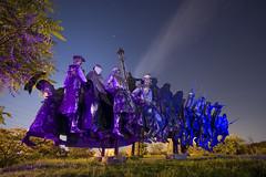 Kun Bla Memorial (Tourista de Mancunia) Tags: lightpainting hungary budapest revolution szoborpark startrails redarmy remnantsofthepast pollitical mementopark communistmonuments communistrelics