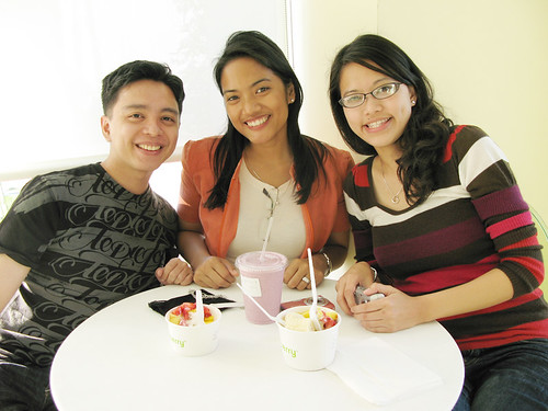 Me with friends at Pinkberry