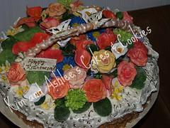 Basket of Flowers Cake (Kim and Ashlee's Cakes & Cookies) Tags: birthday flower cake chocolate sugar retirement decorated wwwkimandashleecom