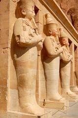 Osirid Statues ( Hatshepsut Temple) (chaiyuenleong) Tags: temple statues hatshepsut osirid