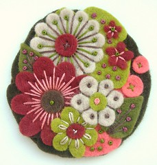 'POCKETFUL OF POSIES' FELT BROOCH (APPLIQUE-designedbyjane) Tags: flowers autumn pin brooch felt corsage embroidered posies