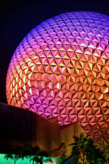 Disney - Spaceship Earth at Night From Back (Express Monorail) Tags: travel pink walter vacation usa colors night america dark wonder geotagged fun psp evening orlando epcot nikon colorful nightshot florida availablelight magic dream sigma wed elias disney mickey disneyworld fantasy mickeymouse handheld imagine theme wish orangecounty wdw waltdisneyworld walt magical kissimmee themepark attractions waltdisney spaceshipearth futureworld wdi 30mm lakebuenavista imagineering giantgolfball d40 waltdisneyworldresort disneypictures disneyparks disneyatnight disneypics expressmonorail disneyride disneyphotos paintshopprophotox2 disneyicon joepenniston disneyphotography disneyimages geo:lat=28374776 geo:lon=81549023