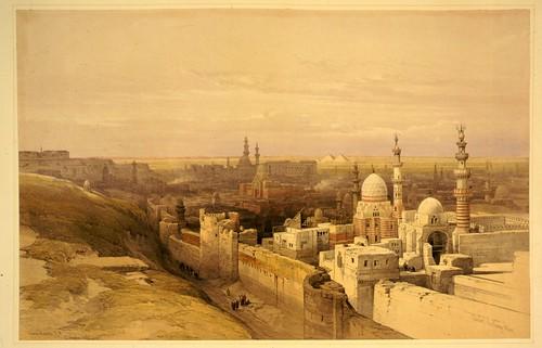 002- El Cairo vista Oeste- David Roberts- 1846-1849