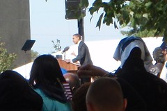 Obama speaking in Raleigh