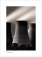 Cottam Power Station (Ian Bramham) Tags: longexposure england bw industry station photography photo nikon energy power smoke fineart towers steam explore coal northern nottinghamshire cooling fired eastmidlands d40 nikond40 cottampowerstation ianbramham