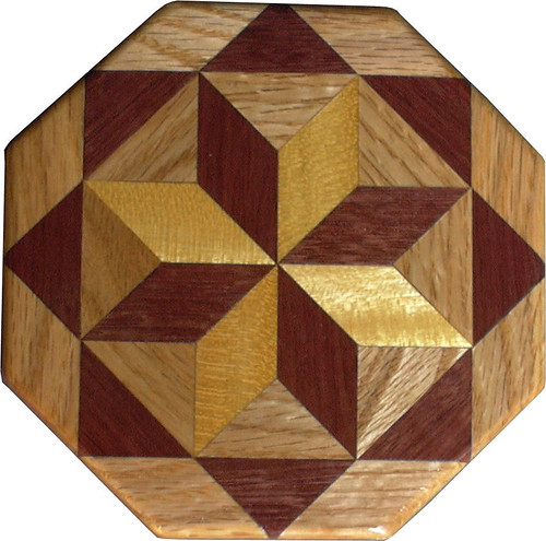 Satinwood – Purpleheart and Oak Trivet