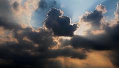 Sunbeams (ImAfUzzyOne - Life keeps me away :o() Tags: light sky beauty sunshine bright cloudy rays sunrays beams sunbeams