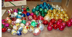 Ornaments sorted by color